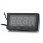 "3.0"" Red LED Car Digital Thermometer with Voltage / Clock Display - Black"