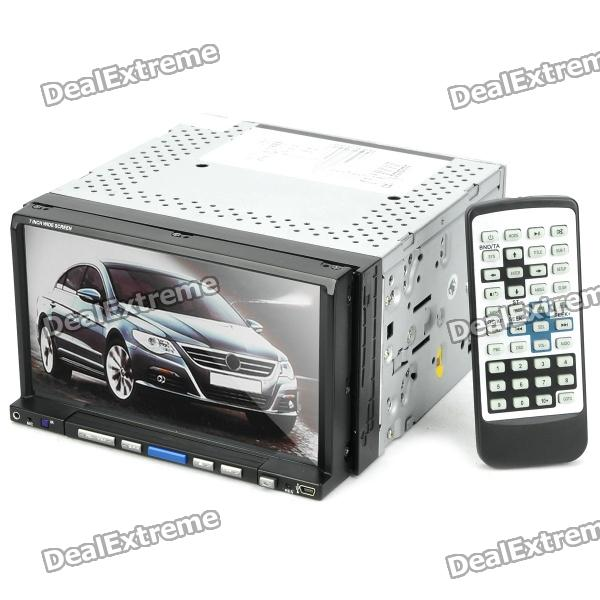 "7"" Resistive Screen Car DVD Media Player w/ GPS / DVB-T / TV / Bluetooth / FM"