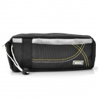 Portable Terylene Fabric Pencil Pouch Bag - Black