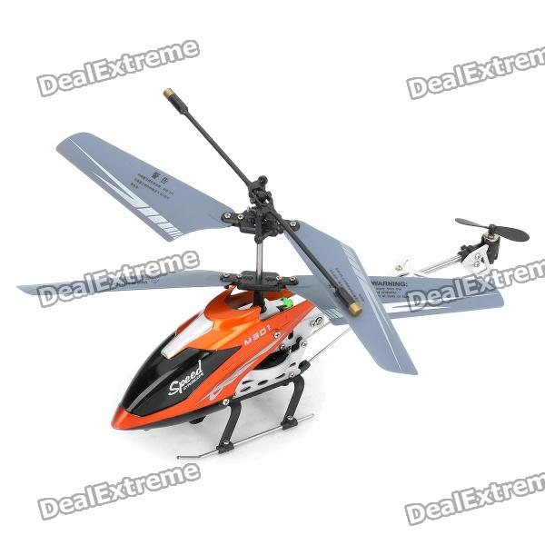 M301 Stylish 3.5 Channel Infrared R/C Helicopter - Orange + Black (6 x AA Batteries)