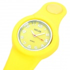 Stylish Silicone Snap Button Band Wrist Watch (1 x ETA377 / Random Color)