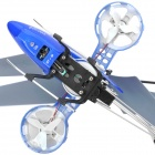 M302 Stylish 4-Channel Infrared R/C Helicopter - Blue + Black (6 x AA Batteries)