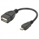 Micro USB Male to USB Female OTG Data Cable for Samsung Galaxy Note/i9220/Nexus/i9250/i9100 - Black