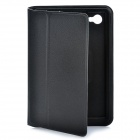 Stylish Protective Ultra Slim PU Leather Case for Samsung Tab P6800 / P6810 - Black