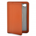 Stylish Protective Ultra Slim PU Leather Case for Samsung Tab P6800 / P6810 - Brown