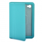 Stylish Protective Ultra Slim PU Leather Case for Samsung Tab P6800 / P6810 - Blue