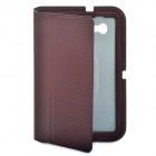Stylish Protective Ultra Slim PU Leather Case for Samsung Tab P6200 - Coffee