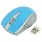 FREER 2.4GHz 1000 / 1600DPI Wireless Optical Mouse - Sky Blue (1 x AAA)