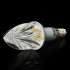 E14 2W 2800K 120-Lumen 10-3014 SMD Warm White Light Bulb (AC 220V)