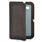 Stylish Protective Ultra Slim PU Leather Case for Samsung Tab P6200 - Light Golden