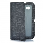 Stylish Protective Ultra Slim PU Leather Case for Samsung Tab P6200 - Grey