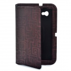 Stylish Protective Ultra Slim PU Leather Case for Samsung Tab P6200 - Deep Red