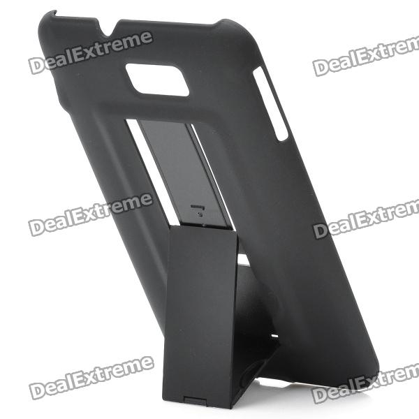 Protective PVC Holder Stand Back Case for Samsung Galaxy Note / i9220 - Black mhl docking station for samsung galaxy note i9220 black silver