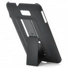 Protective PVC Holder Stand Back Case for Samsung Galaxy Note / i9220 - Black