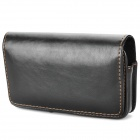 Protective PU Leather Waist Belt Bag Case for Samsung Galaxy S II / i9100 - Black
