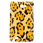 Protective Leopard PC Case for Samsung i9220 - Yellow