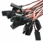 300mm 3-Pin Servo Leads Connection Splitted Y-Cables (10-Pack)