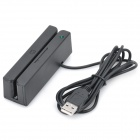 USB Magnetic Stripe Credit/Debit Card Bidirectional Reader - Black