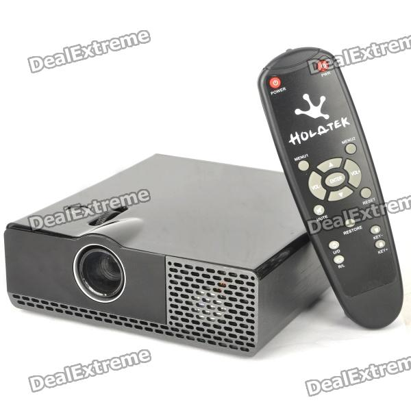Portable Linux OS Network LED Projector w/ VGA / LAN / Dual USB / WiFi - Black (1.8GHz / DDR II 1GB)