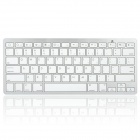 Portable Bluetooth V3.0 Wireless Keyboard - White + Silver (2 x AAA)