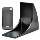 Wireless Dual Charging Dock for iPhone 4S - Black (DC 12V / 2-Flat-Pin Plug)