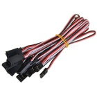 500mm 3-Pin Servo Leads Connection Extension Cables - Black (10PCS)