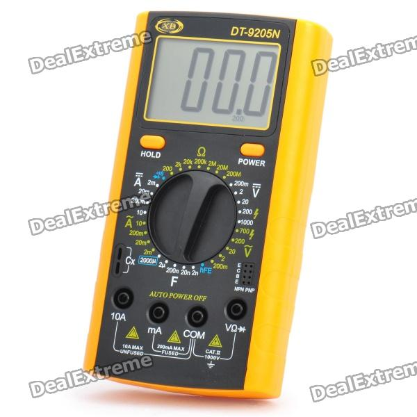 Фото DT-9205N 2.8 LCD Digital Multimeter - Black + Orange (1 x 9V 6F22) 110db loud security alarm siren horn speaker buzzer black red dc 6 16v