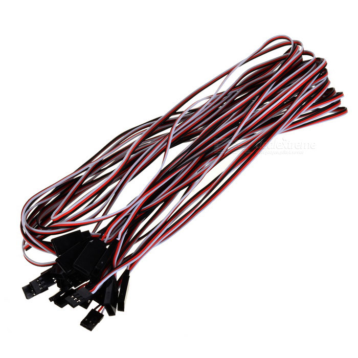 1000mm 3-Pin Servo prolongaciones de conexión Cables (10-Pack)