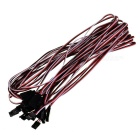 1000mm 3-Pin Servo Leads Connection Extension Cables (10-Pack)