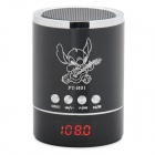 "0.9"" LED Mini Music Speaker w/ USB / TF /FM - Black"