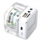 "1.4"" LCD Mini Music Speaker w USB / TF / FM - Silver"