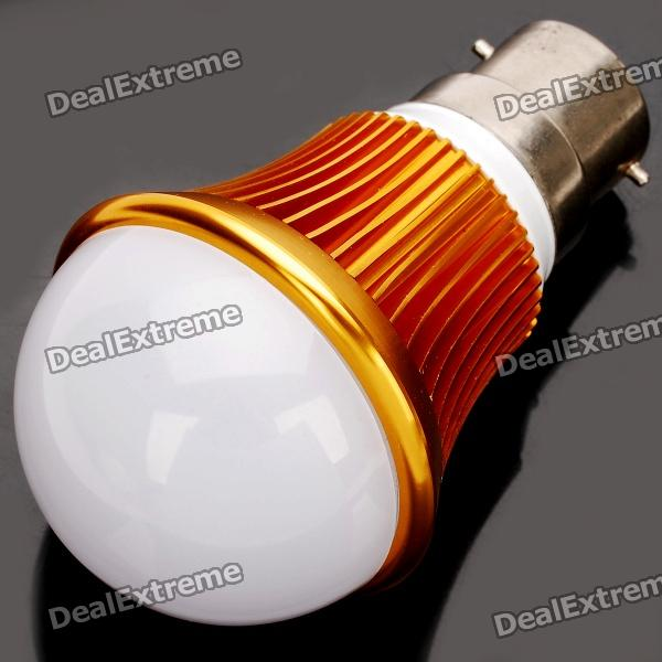 B22 6W 3500K 540-Lumen 12-LED Warm White Light Bulb (AC 85~265V) e27 9w 3500k 810 lumen 18 led warm white light bulb ac 85 265v
