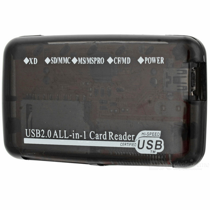 USB Mini All Memory Card Reader Black