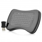 Genuine Feltouch Bonepad 2.4GHz RF Wireless Multi-Touch Mouse / Keyboard - Black