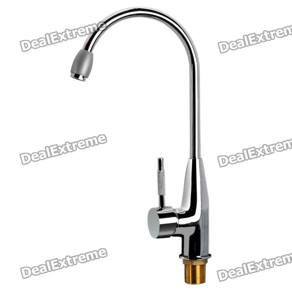 Stylish Chromed Copper Kitchen Sink Faucet Water Tap