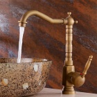 Antique Single-handle Faucet Copper Kitchen Water Tap