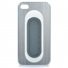 Unique Protective Back Case w/ Stand Holder for Iphone 4 / 4S - Blue + White