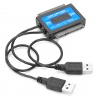 "Dual USB to Dual SATA Cable Converter w/ 2.5"" HDD Case - Grey (24CM)"