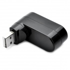 High Speed 3-Port USB 2.0 Rotatable Hub - Black