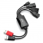 High Speed USB 2.0 4-Port Hub with Splitter Cable (20cm)