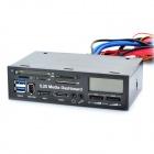 "All-in-1 5.25"" Multi-Function Front Panel Media Card Reader Dashboard with 1.7"" LCD Display"