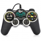 Dual Shock USB 2.0 Wired PC Game Joypad Controller - Black