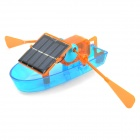 Solar Powered Assembly Boat Toy - Blue + Orange
