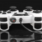Betop C036 Dual-shock Wired USB Gamepad Game Controller - White + Black