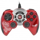 Betop Wired Dual-shock USB Gamepad Game Controller of PC Games - Red