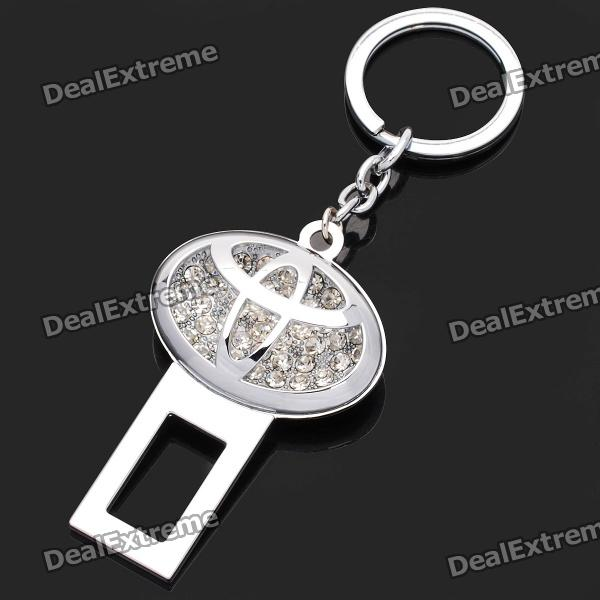 Stylish Rhinestone Toyota Logo Seat Belt Buckle Latch