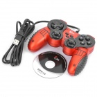 Betop BTP-2118 Dual-shock USB Vibration Gamepad Game Controller of PC Games - Black + Red