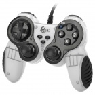 Betop BTP-2118 Dual-shock USB Vibration Gamepad Game Controller for PC Games - Black + White