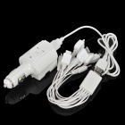AC / Car Charger Power Adapter w/ 10-in-1 USB Charging Cable for Cell Phone + More