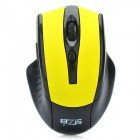 2.4GHz Wireless Optical Mouse with USB Receiver - Black + Yellow (2 x AAA)